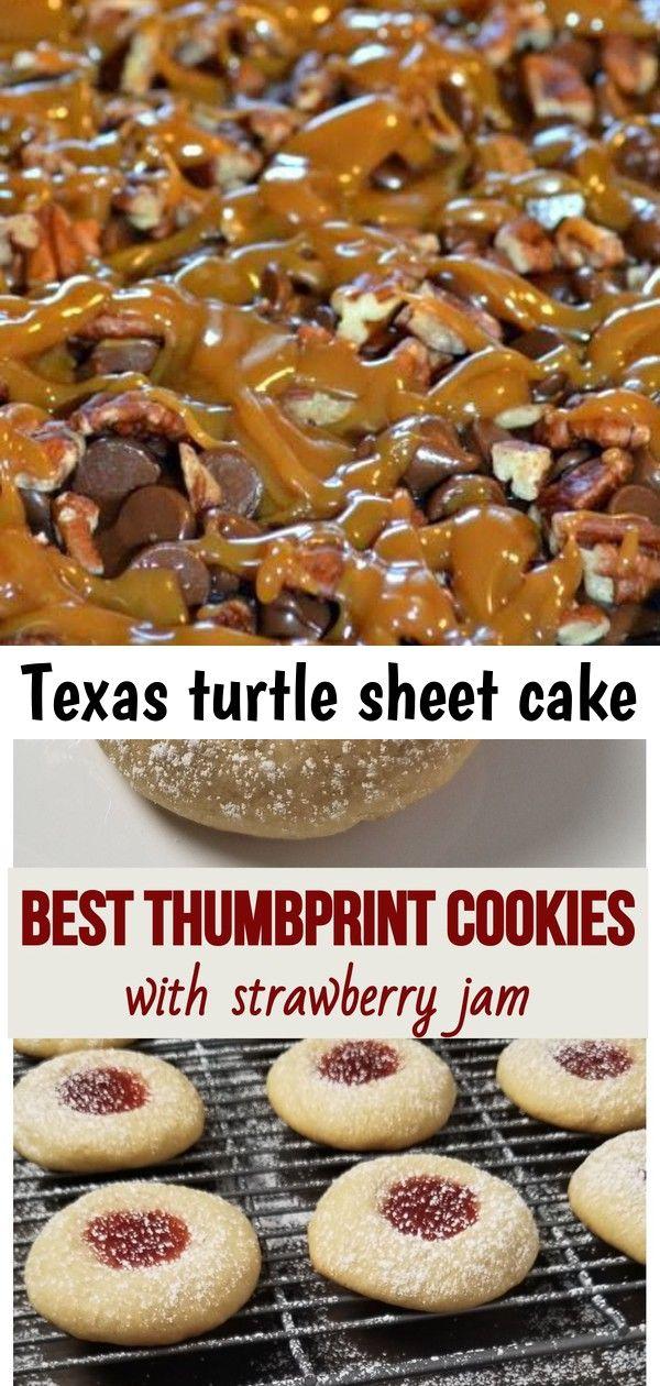 Texas turtle sheet cake #jamthumbprintcookies