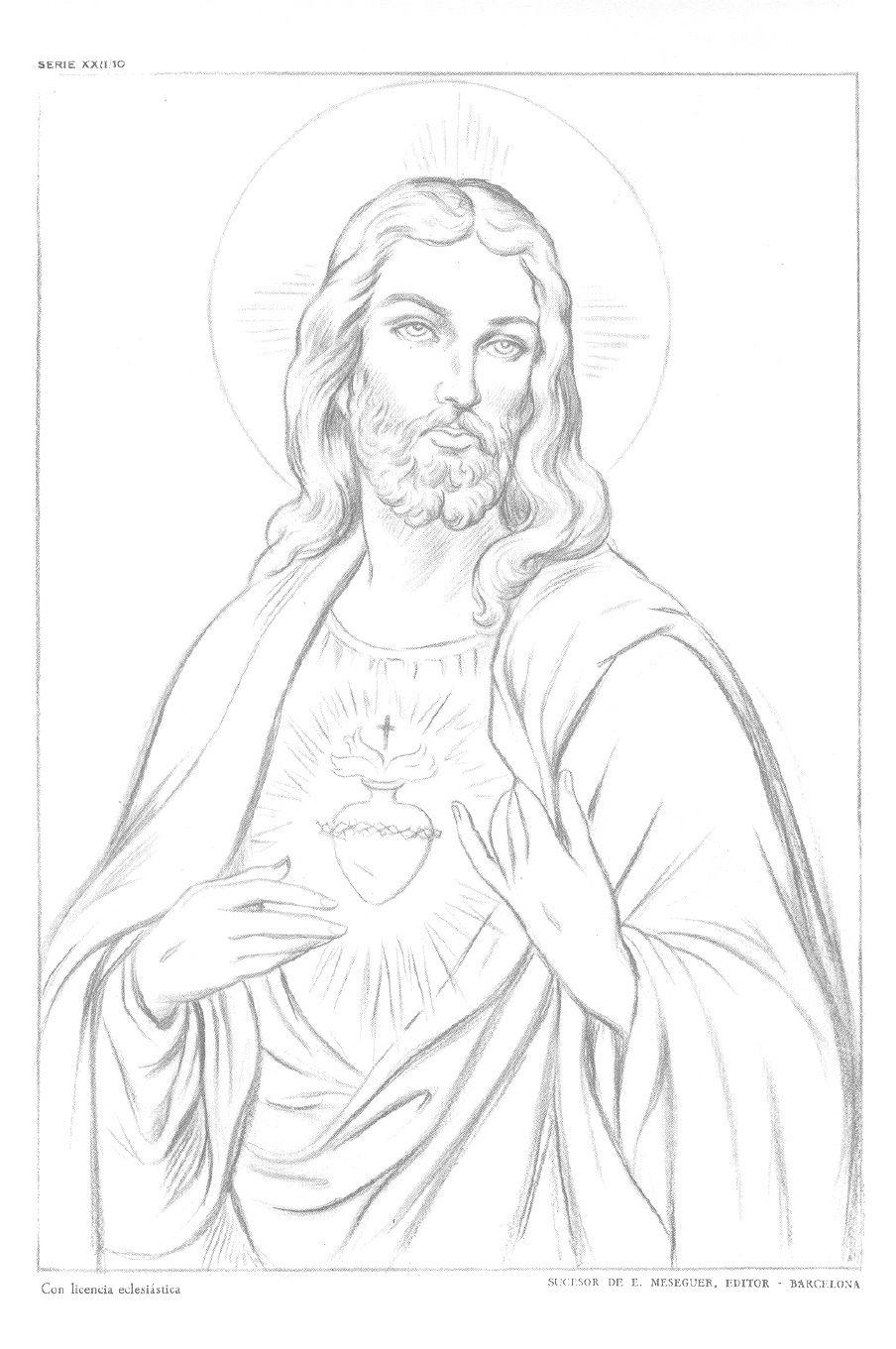 Laminas Emilio Freixas Serie 22 Figuras Religiosas I Figuras Religiosas Dibujos De Jesus Arte De Jesus