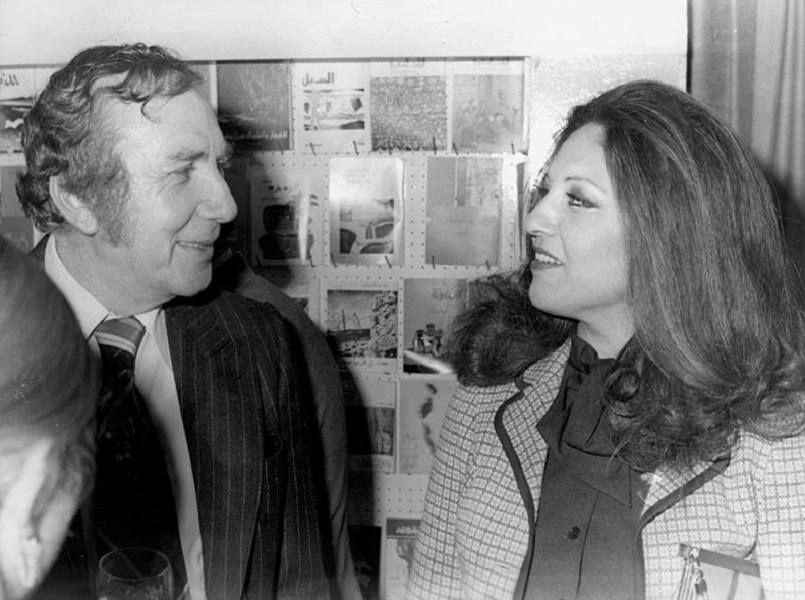 الشاعر الكبير نزار قباني مع زوجته العراقية بلقيس الراوي Baghdad Egyptian Actress Baghdad Iraq