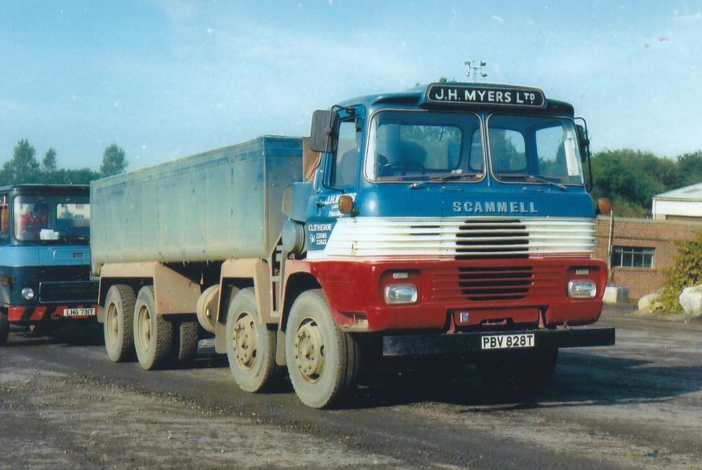 Col Photo J H Myers Scammell Routeman 8 Wheel Tipper Pbv 828t
