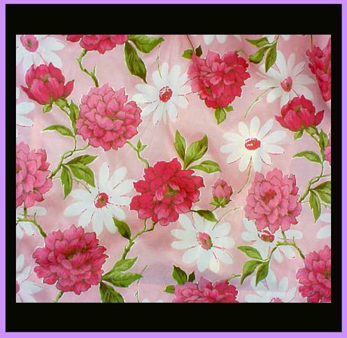 1960s Drapes Pink Peony Flower Curtains Mint 50% off for Ruby Red Tag Sale July 31st 8:00 am PST.