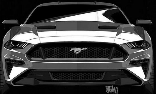 Ford Mustang 2018 Inspired By Darth Vader Mustang 2018 Ford