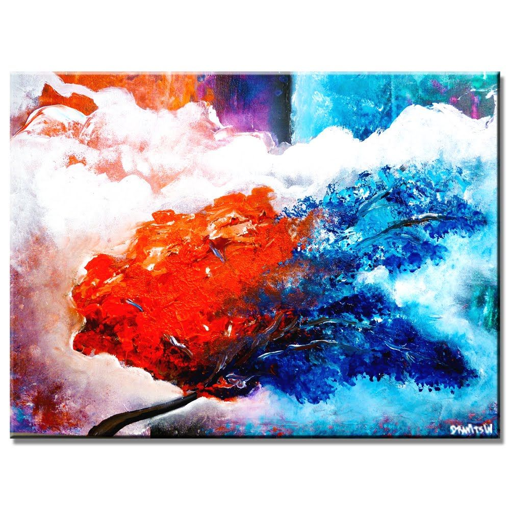 Amazing Step By Step Abstract Landscape Video Art Lesson Hot To