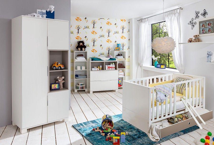 Γγρ│ Chambre bébé complète taupe et blanche GABIN Chambre bébé