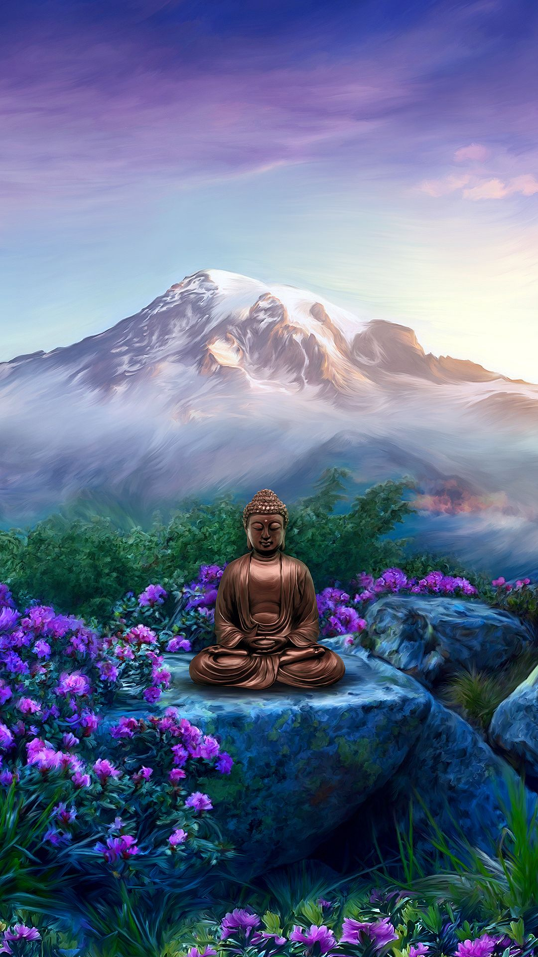Buddha Wallpaper For Mobile Devices Artwork By Goodvibesgallery Com Lord Buddha Wallpapers Buddha Wallpaper Iphone Buddhism Wallpaper