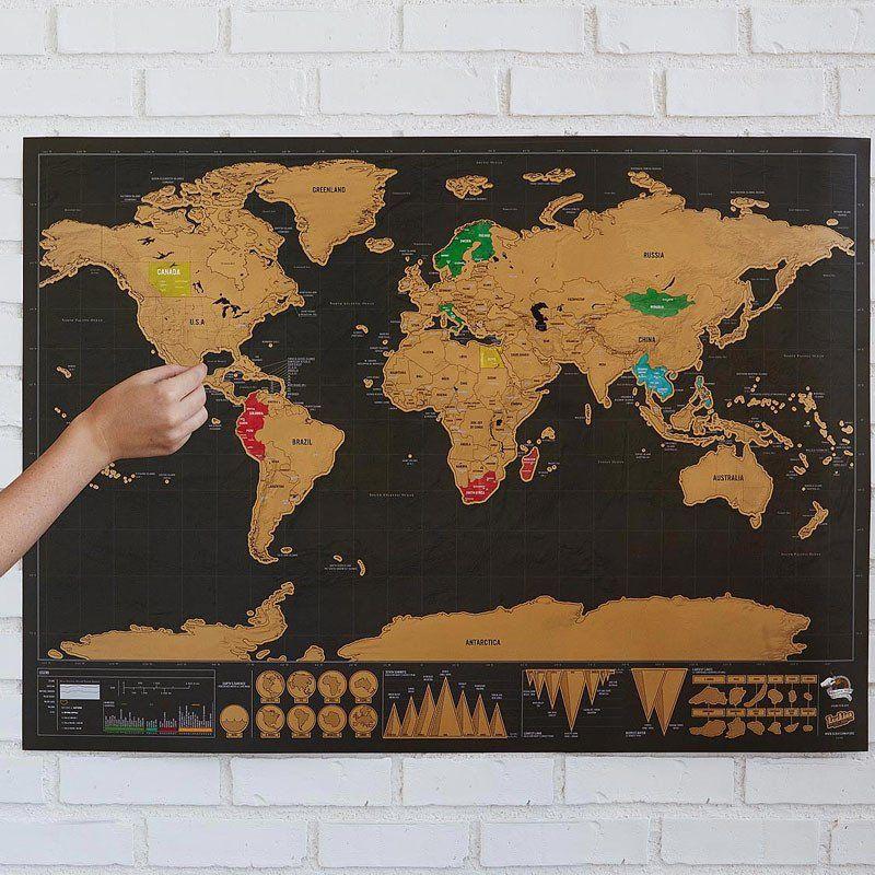 Scratch World Map Travel Essentials Pinterest - World map track your travels