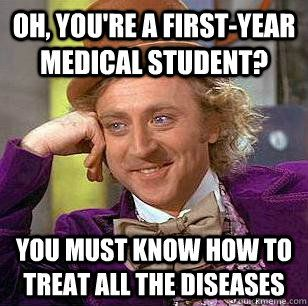 dating a first year medical student Medical school advice for 3rd & 4th year students advice for every rotation read the section corresponding to your upcoming rotation in first aid for the wards prior to the start of the rotation (or at least within the first week.