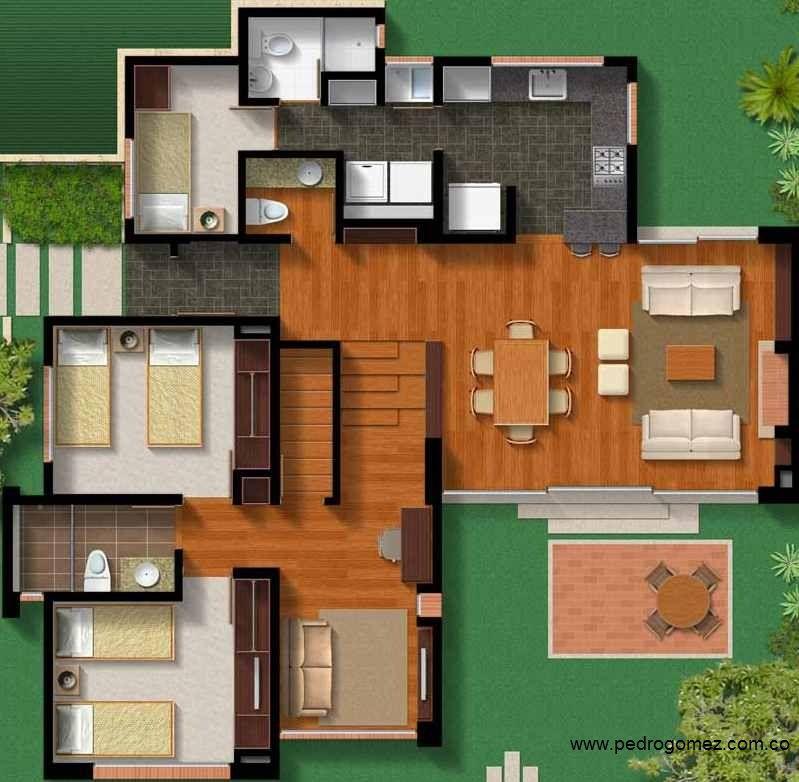 Pin de hazel ch vez en dise o casas floor plans for Modelos de planos de casas