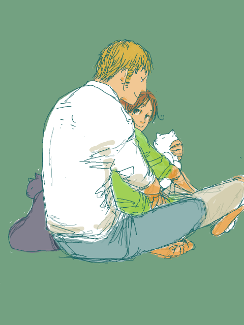 GerIta cuddles source: http://tegaki.pipa.jp/51148/13644555.html