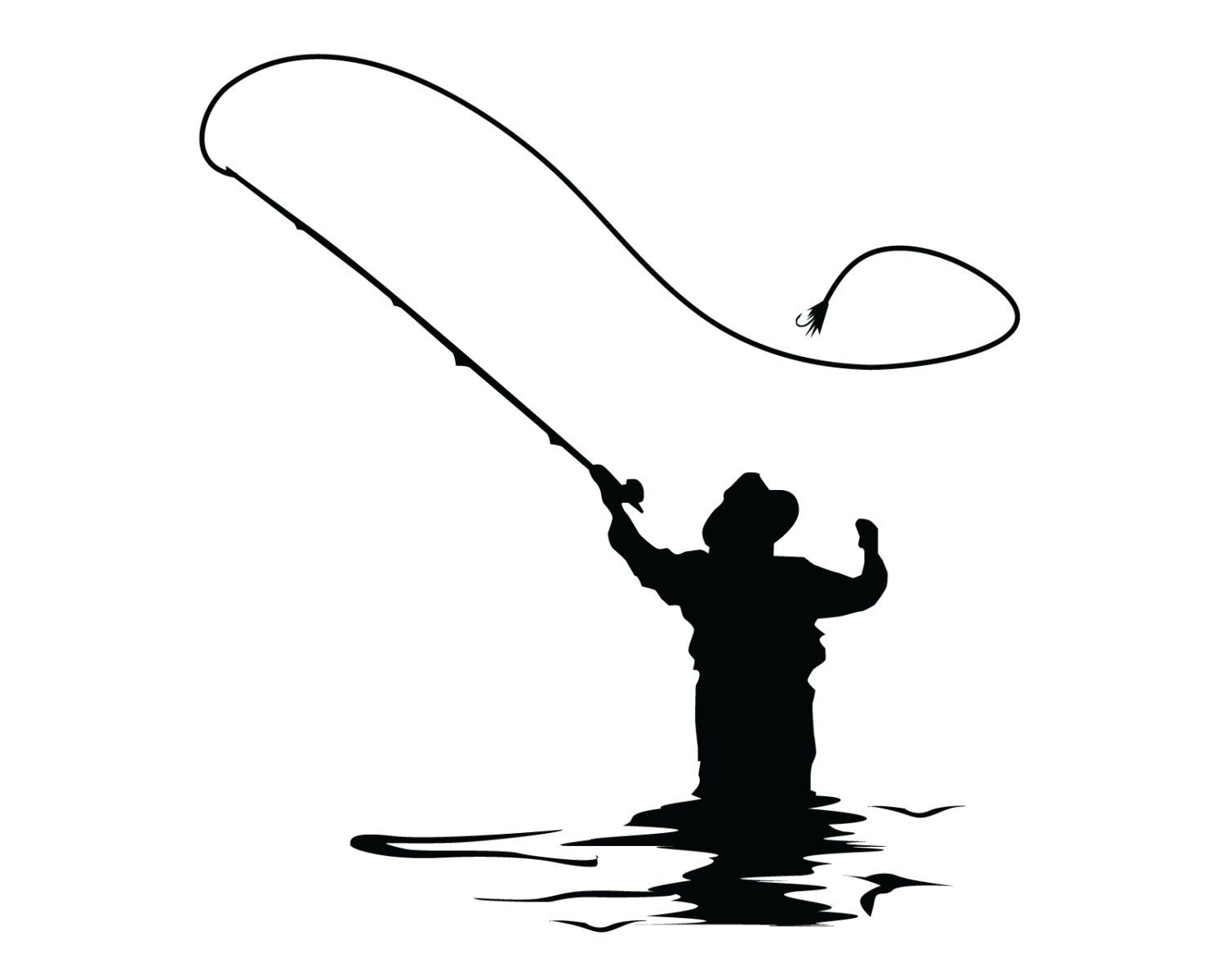 Popular items for fly fishing sticker on etsy fly for Fishing stickers and decals