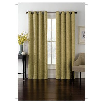 Richloom Home Fashions Insola Foray Blackout Single Curtain Panel Color Maize