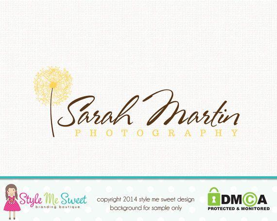 Cration De Logo Pissenlit Premade Par Stylemesweetdesign Carte Visite