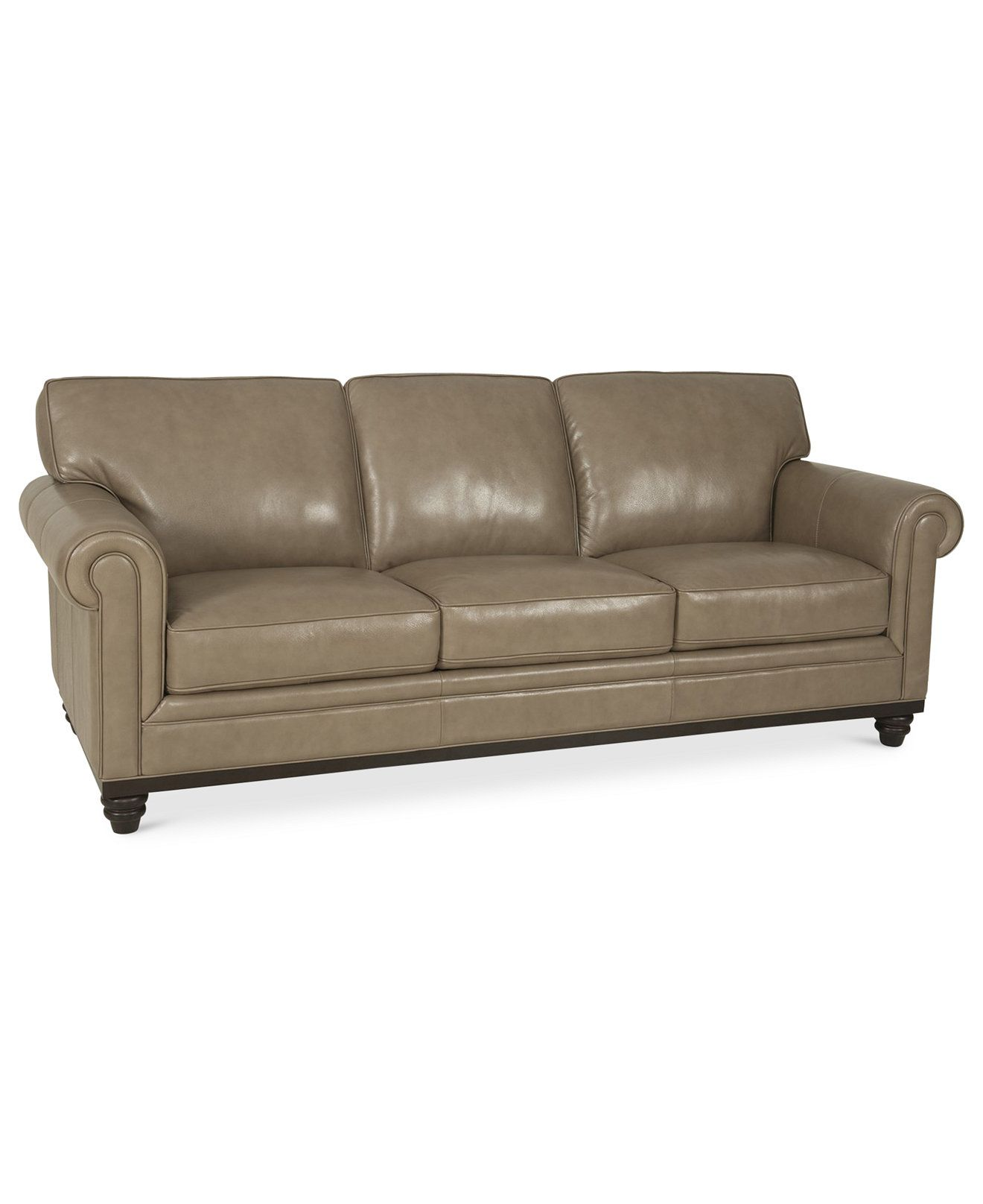 Martha stewart collection bradyn leather sofa created for for Macy s sectional sofa leather