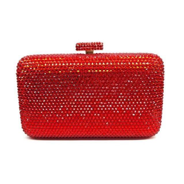 568ea0b739 LaiSC wholesale Luxury navy blue evening handbag Red crystal Clutch bag  women evening bag Wedding purse bride pochette bag SC042