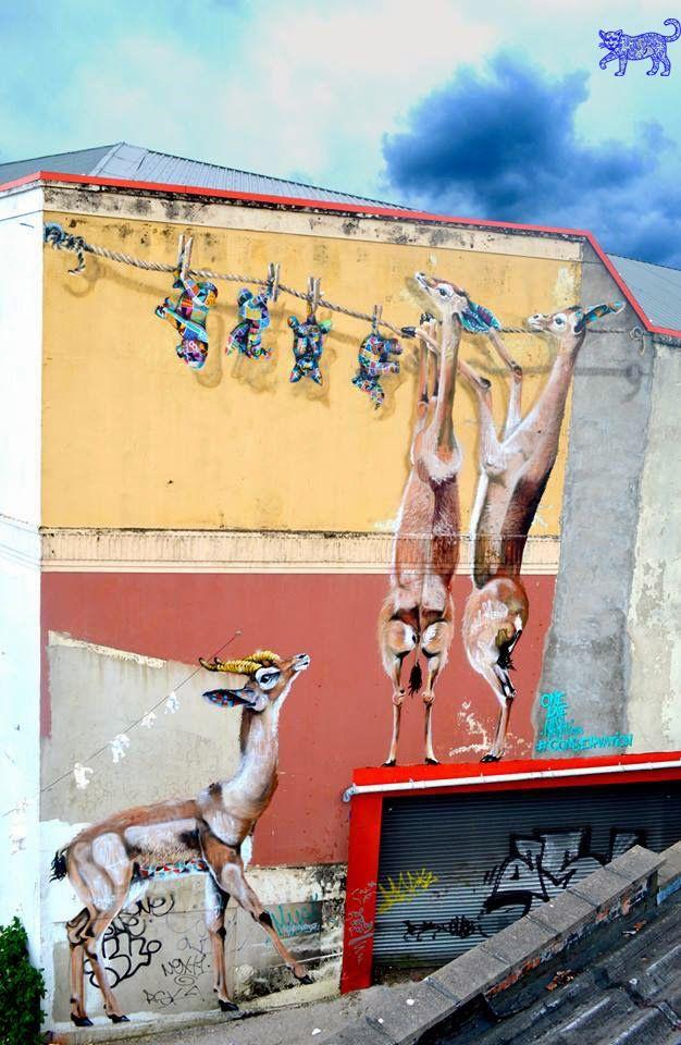 Jaguar Azul Arte Urbano