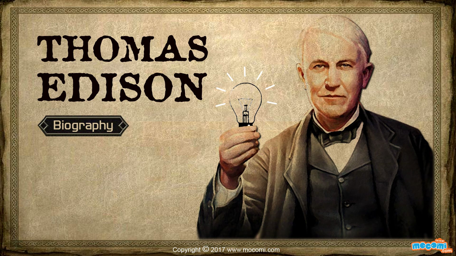 Thomas Edison Inventions Short Biography For Kids Mocomi Biography Learn Culture Edison Inventions