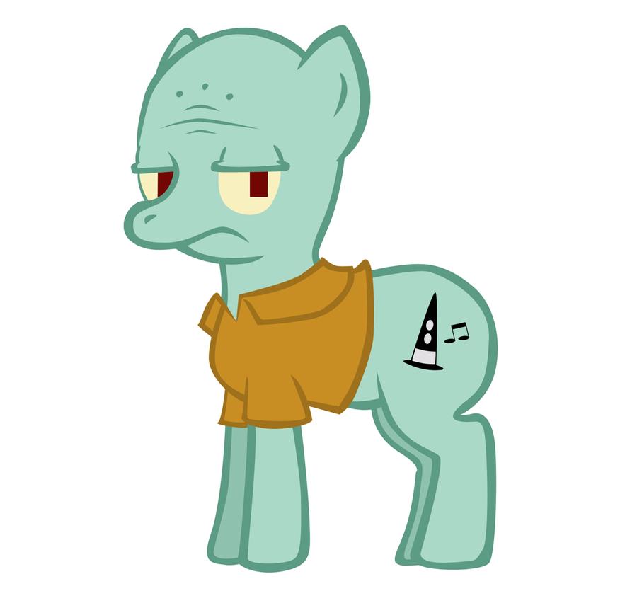 Squidward Pony By Teukrome