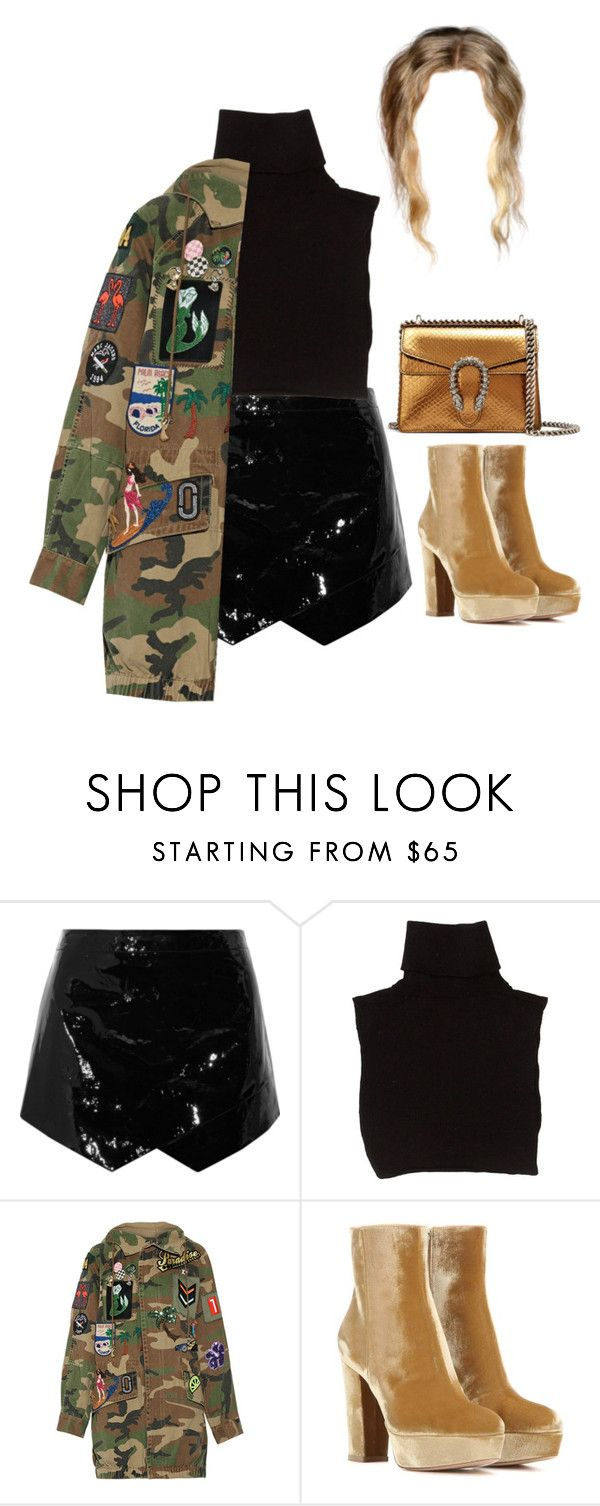 """""""Having lunch in Beverly Hills with Family"""" by nytown ❤ liked on Polyvore featuring Mason by Michelle Mason, Marc Jacobs, Gianvito Rossi and Gucci"""
