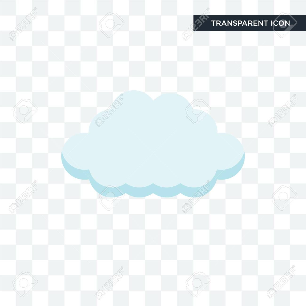 Cloud Vector Icon Isolated On Transparent Background Ad Icon Vector Cloud Background Trans Vector Icons Brand Identity Business Cards Cloud Vector