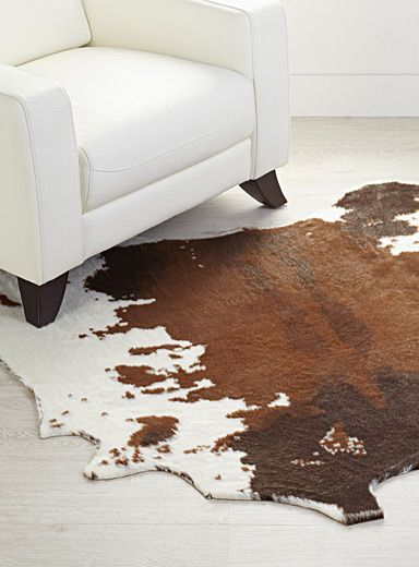 Faux-cowhide area rug 145 x 145 cm | Rugs online, Living rooms and ...