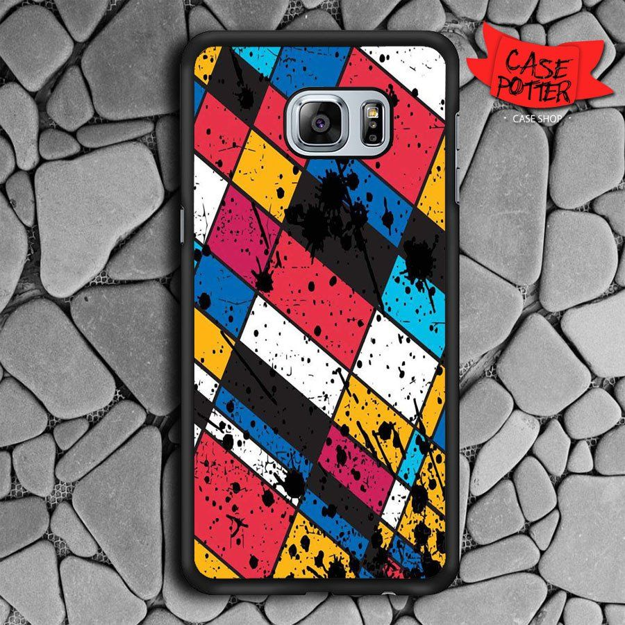 Geometric Blood Samsung Galaxy S6 Edge Plus Black Case