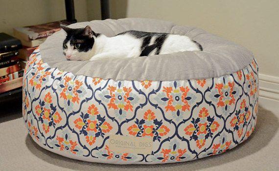 Prime Luxury Pet Bed For Dog Or Cat Floral Pet Pouf Round Pet Customarchery Wood Chair Design Ideas Customarcherynet