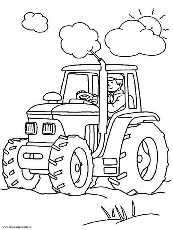 Gratis Kleurplaten Tractor.Kleurplaat Tractor Google Zoeken Owen Kindergarten Coloring