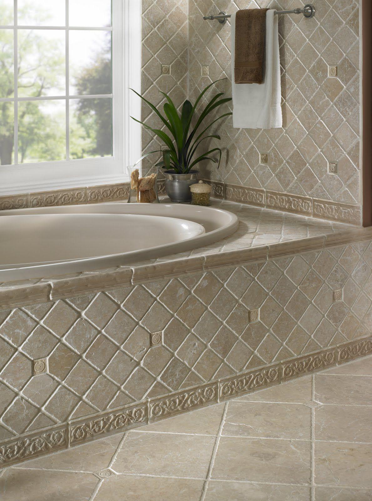 Backsplash picture ideas lifetime sealer on tumbled for Tumbled marble bathroom designs