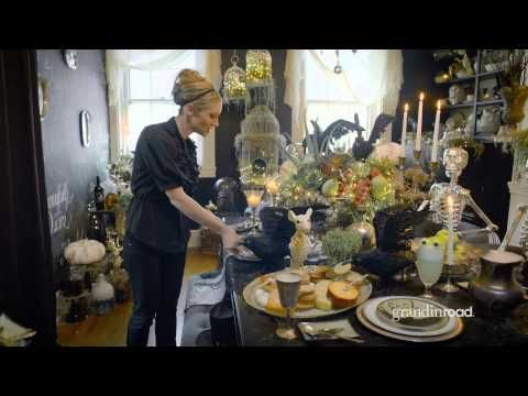 How to Decorate Your Halloween Table Grandin Road - YouTube