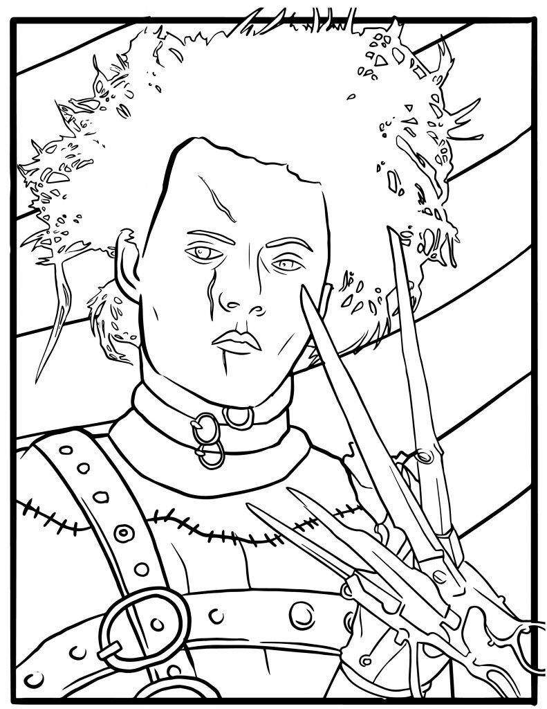 Free Edward Scissorhands Coloring Pages Coloring pages