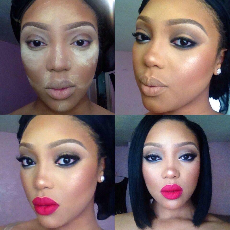 My transformation Black women makeup, Womens makeup