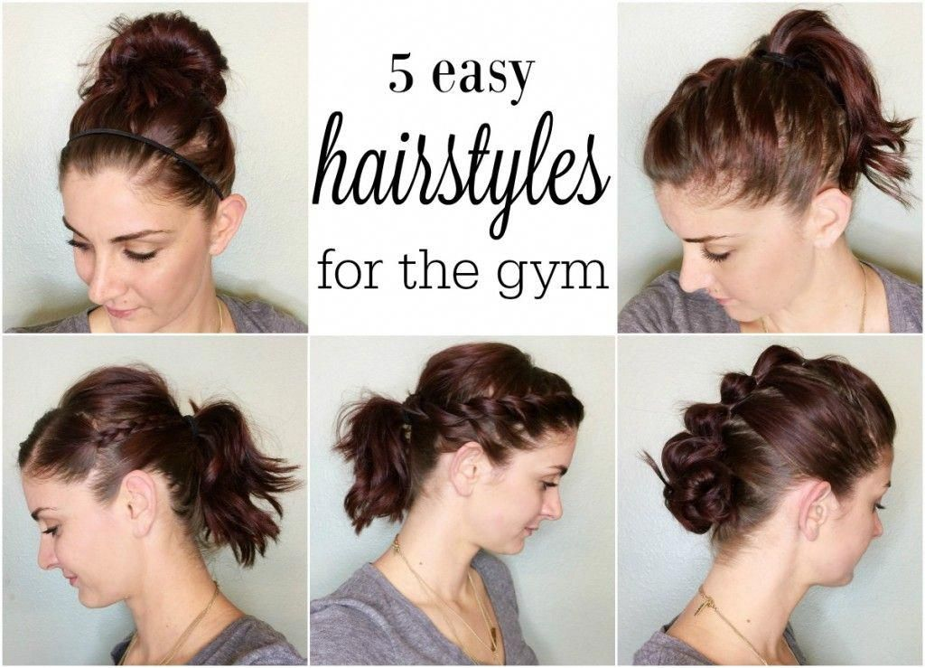 5 Hairstyles For Working Out Easyhairstyles Gym Hairstyles Workout Hairstyles Easy Hairstyles
