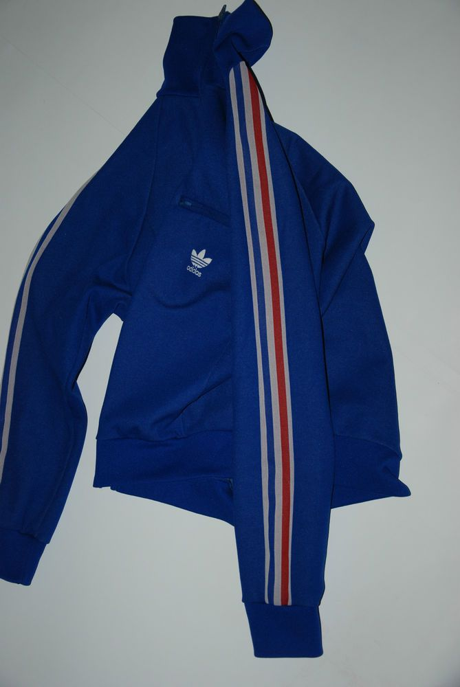 the best attitude d8399 9a43b Vintage 80s Adidas Ventex Mens Womens Tracksuit Jacket France French Flag L  M