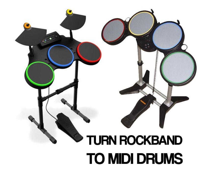 Convert Rockband Controller to MIDI Drums | Pinterest
