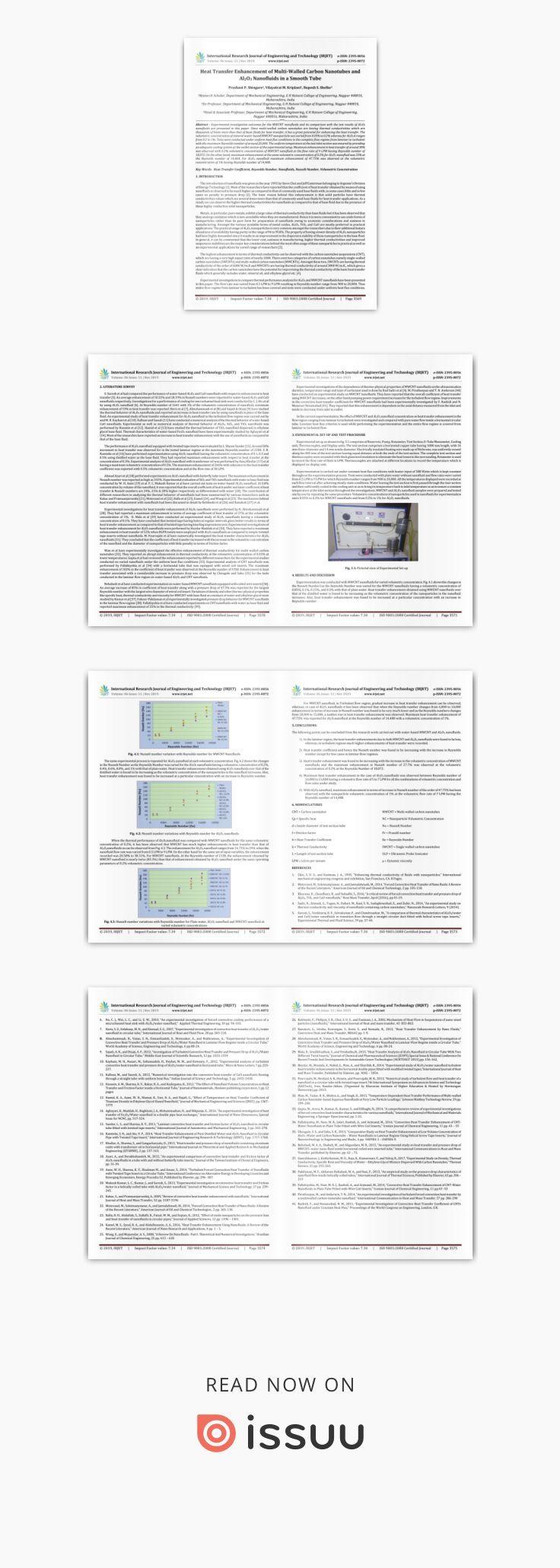 IRJET Heat Transfer Enhancement of MultiWalled Carbon