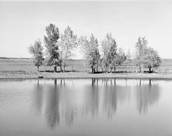 Robert AdamsA Farm Pond about to be Destroyed by Earth Moving Machinery. Northglenn. Colorado (1973)