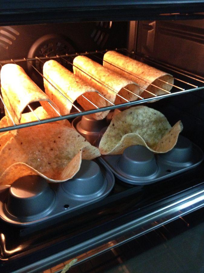 How to make tortilla shells crispy