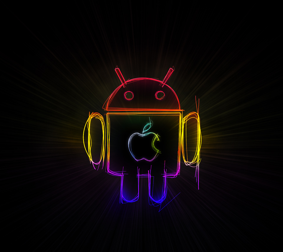 android eat apple | android freak | pinterest | android