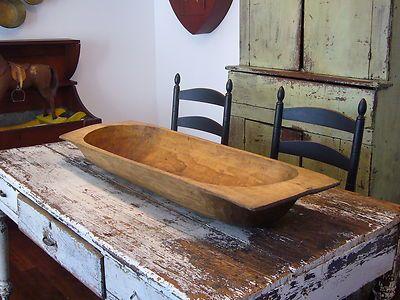 Primitive Wooden Trencher Dough Bowl
