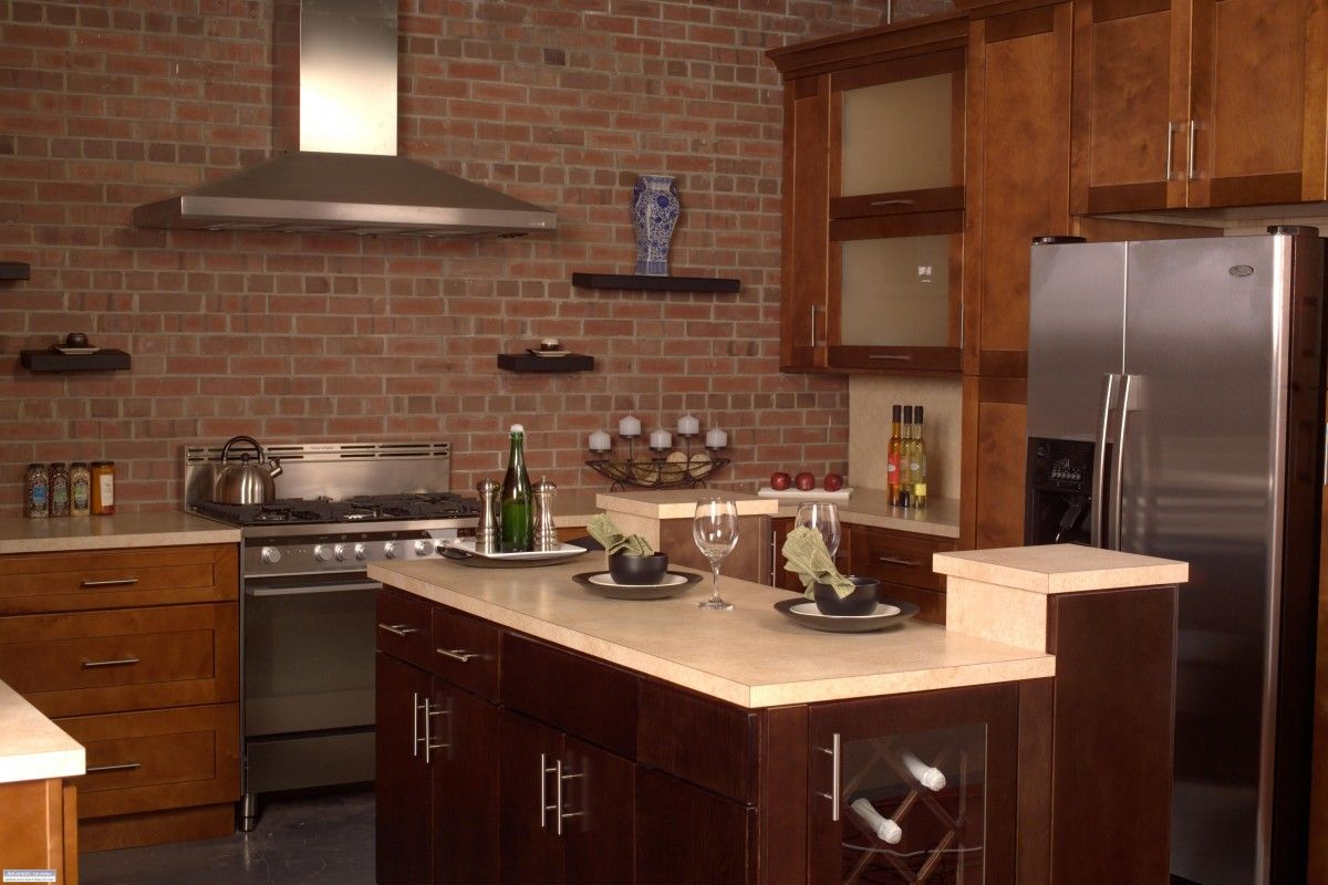 This is our Palmer Shaker cabinet line. Great warm modern kitchen ...