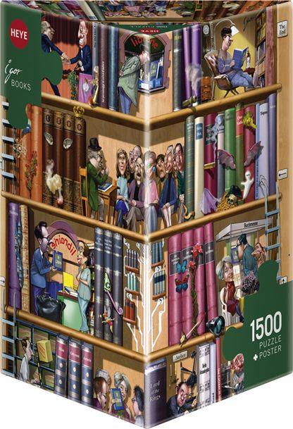 """Blog de Puzzle de estanteria de libros """"libro de Igor Kravarik HEYE, 1500 Piezas."""