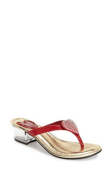 b920888c38120d Love and Liberty  Love  Jeweled Flip Flop Sandal (Women)