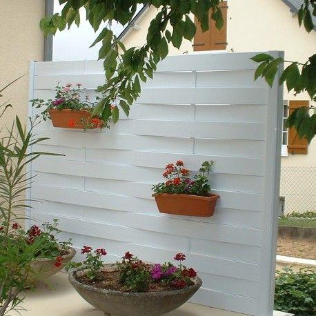 Photo d\'une clôture brise-vue sur terrasse - maison jardin ...