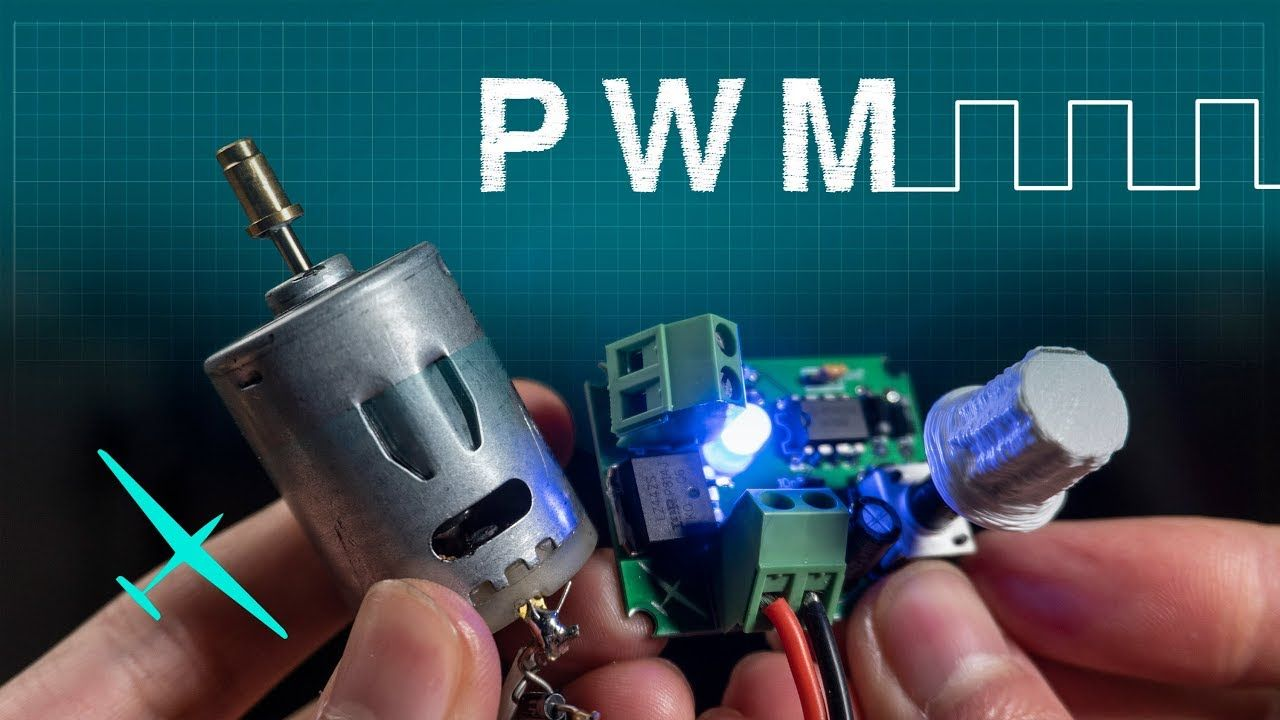 How Pwm Works Controlling A Dc Motor With A Homemade Circuit Youtube Electronics Projects Diy Electrical Circuit