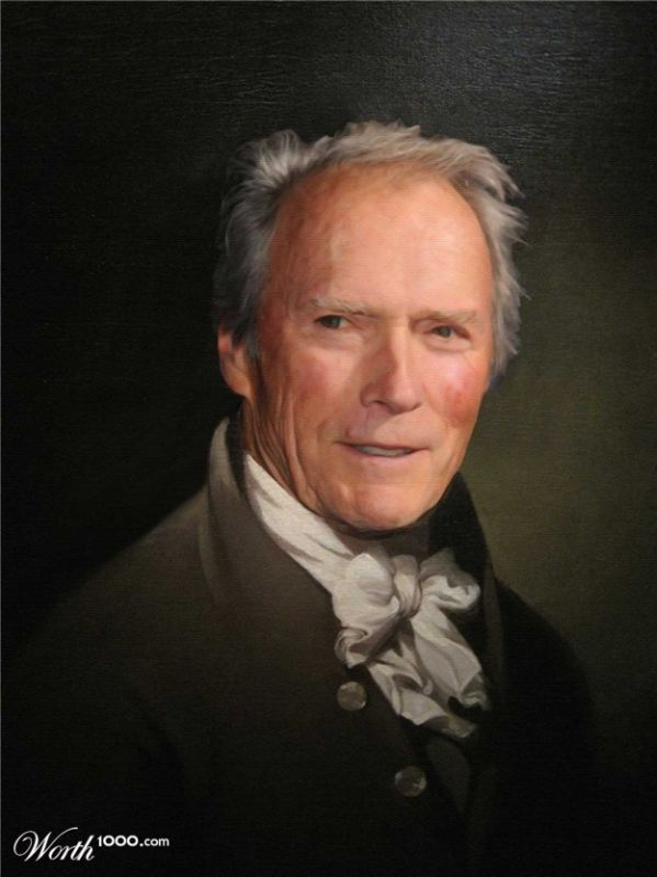 Clint Eastwood | Renaissance Paintings of Modern Celebrities