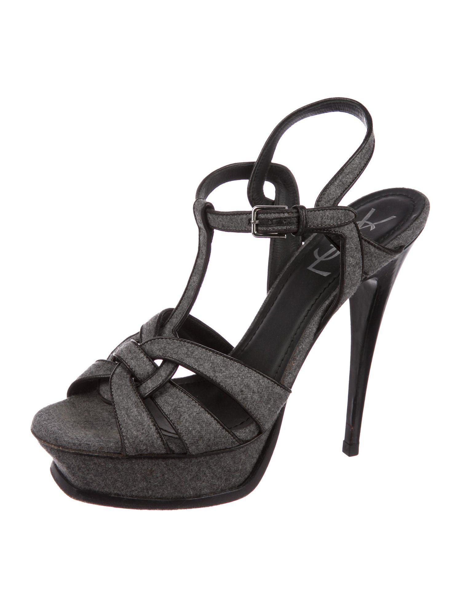 940a36f943ea Yves Saint Laurent Tribute Platform Sandals - Shoes - YVE80423