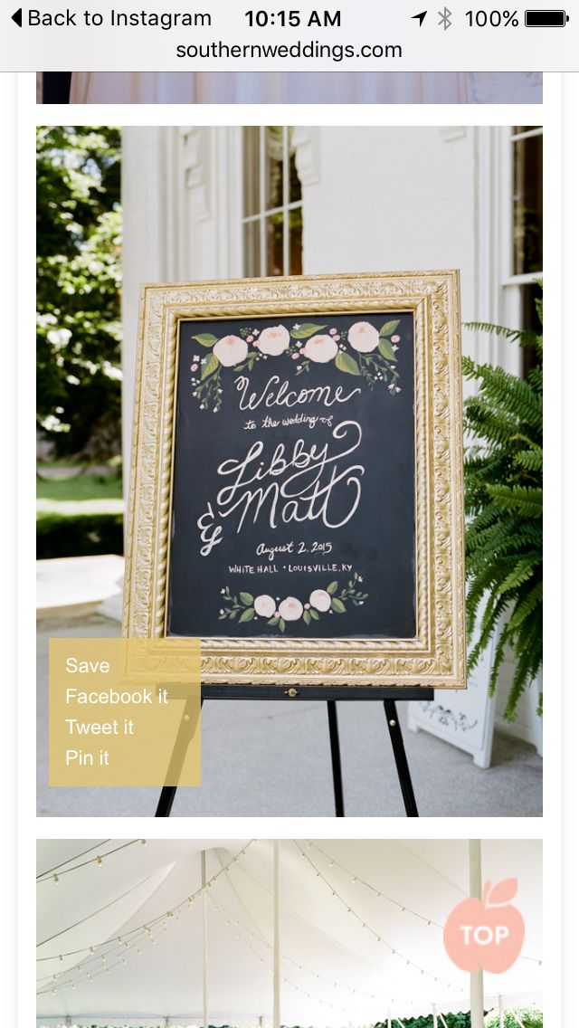 GORGEOUS. I only want to use chalkboards if they are classy like this.