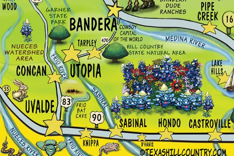 Texas Hill Country Scenic Drive Map The coolest map of the Texas Hill Country that we have ever seen