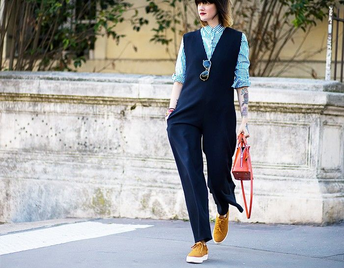 The Street Style Guide to Dressing Up Your Flats via @WhoWhatWearUK
