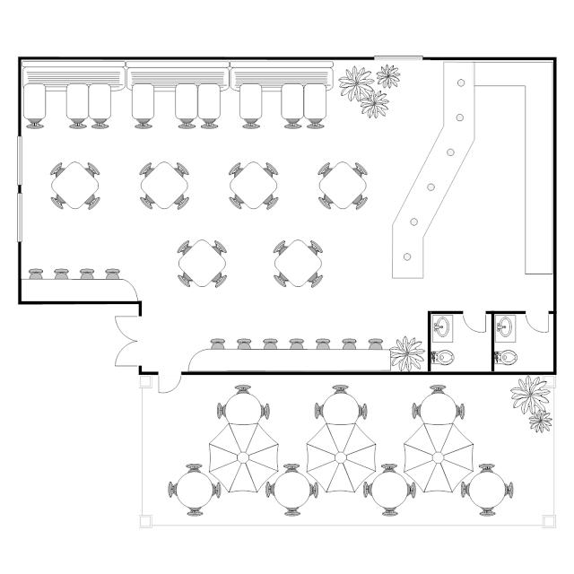 Kitchen Island Layout Kitchen Layout Templates 6 Different: Bản Vẽ Thiết Kế Quán Cafe Sân Vườn In 2019